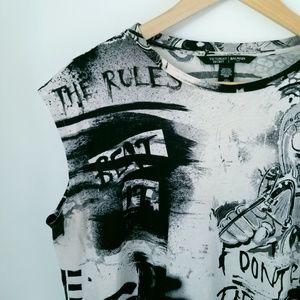 VS Limited Edition/BALMAIN Distressed Shirt  SZ L